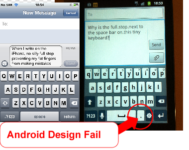 Android Design fail - Web development & Design - Productfitter